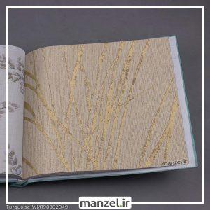 کاغذ دیواری گلدار Turquaise کد WM190302049