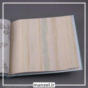 کاغذ دیواری راه راه Turquaise کد WM190304053