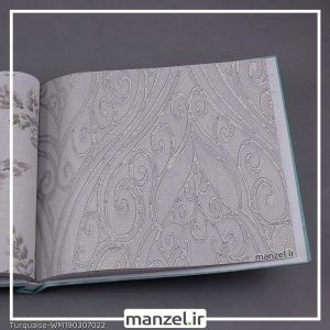 کاغذ دیواری گلدار Turquaise کد WM190307022