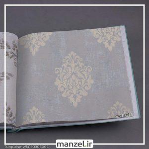 کاغذ دیواری داماسک Turquaise کد WM190308005