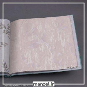 کاغذ دیواری برگ Turquaise کد WM190308018