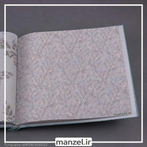 کاغذ دیواری برگ Turquaise کد WM190308022