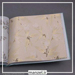 کاغذ دیواری گلدار Turquaise کد WM190308028