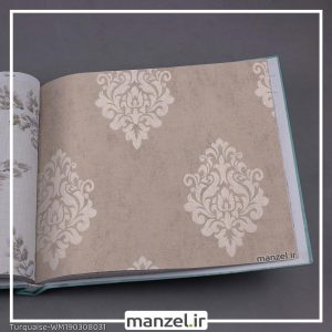 کاغذ دیواری داماسک Turquaise کد WM190308031