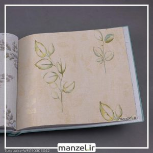 کاغذ دیواری برگ Turquaise کد WM190308042