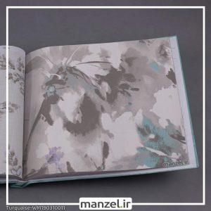 کاغذ دیواری گلدار Turquaise کد WM190310011