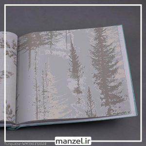 کاغذ دیواری گلدار Turquaise کد WM190310028
