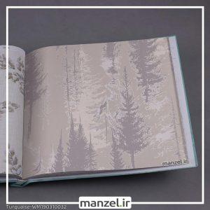 کاغذ دیواری گلدار Turquaise کد WM190310032
