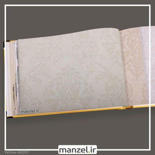 کاغذ دیواری داماسک yellow کد 60051