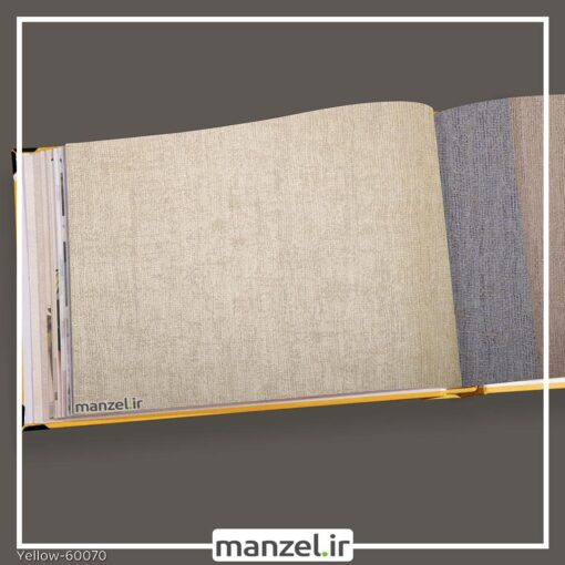 کاغذ دیواری ساده yellow کد 60070