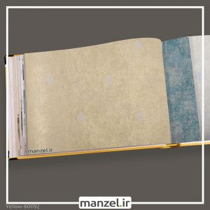 کاغذ دیواری داماسک yellow کد 60092