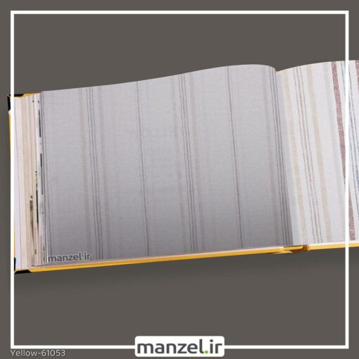 کاغذ دیواری راه راه yellow کد 61053