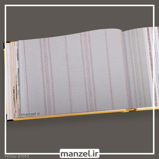 کاغذ دیواری راه راه yellow کد 61055