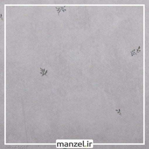 کاغذ دیواری گلدار yellow کد 61061