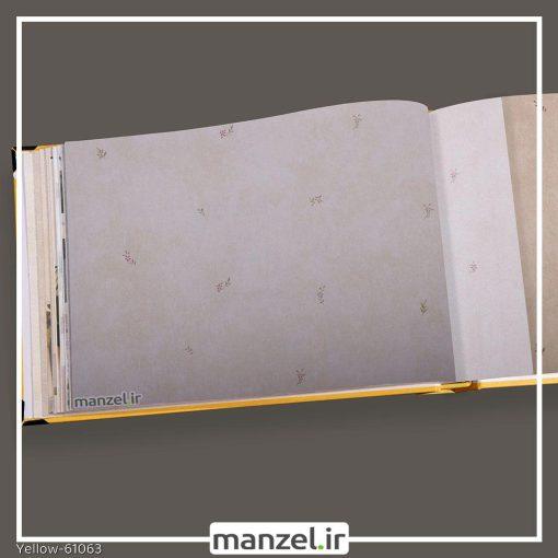 کاغذ دیواری گلدار yellow کد 61063