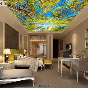 پوستر دیواری سقف طرح درخت کد DA-4414