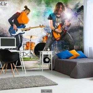 پوستر دیواری طرح نوازنده گیتار الکتریک کد DA-4420