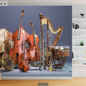 پوستر دیواری طرح سازهای موسیقی کد DA-4474