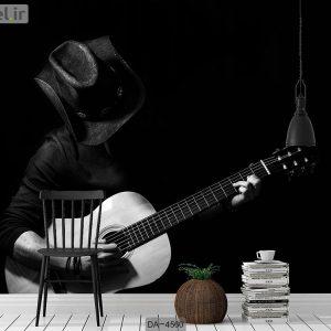 پوستر دیواری نوازنده گیتار کد DA-4560