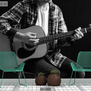 پوستر دیواری طرح نوازنده گیتار کد DA-4587
