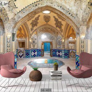 پوستر سه بعدی بنای سنتی ایرانی کد DA-4615