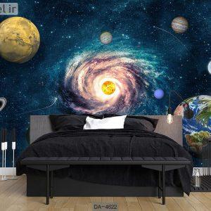 پوستر دیواری طرح کهکشان کد DA-4622