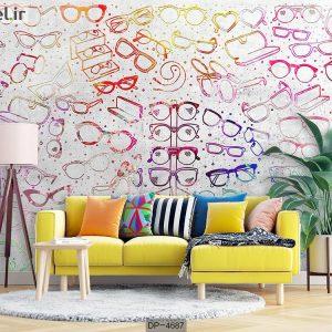 پوستر دیواری طرح عینک کد DP-4687