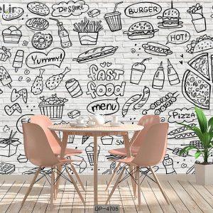 پوستر دیواری فست فود کد DP-4705