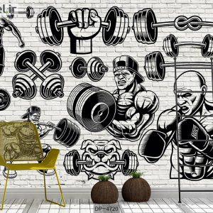 پوستر دیواری باشگاه بدنسازی کد DP-4720