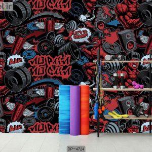 پوستر دیواری باشگاه بدنسازی کد DP-4724