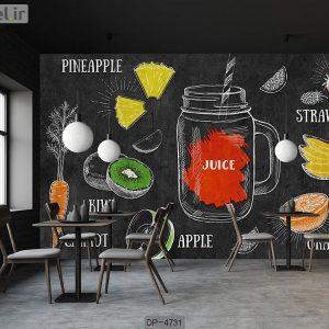 پوستر دیواری طرح آبمیوه کد DP-4731