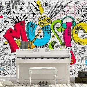 پوستر دیواری طرح موسیقی کد DP-4751