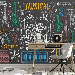 پوستر دیواری طرح موسیقی کد DP-4754