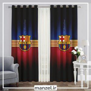 پرده طرح بارسلونا کد UM590
