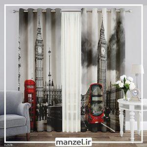 پرده طرح برج ساعت لندن کد UZ178