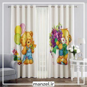 پرده کودک طرح خرس کارتونی کد UZ255